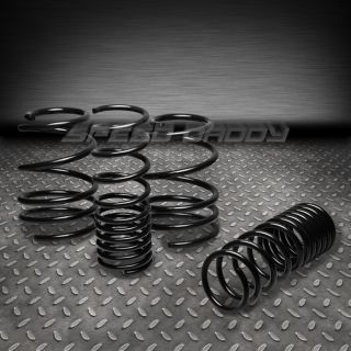 "1"" Drop Racing Suspension lowering Springs Spring 10 13 2U 4U Compact MPV Black"