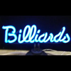 Billiards Pool Table Neon Sign Neon Art Open Game Room 8 Ball Wall or Table Lamp