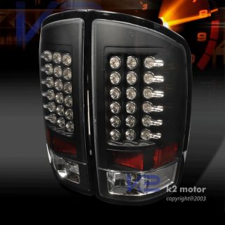 2002 2006 Dodge RAM 1500 2500 Black LED Brake Tail Lights