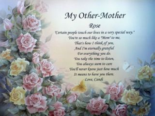 My Other Mother Personalized Poem Ideal Birthday Mother's Day or Christmas Gift
