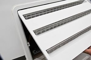 RV Insect Screen Dometic Refrigerator Vent Trailer camper Wasps Mud Dauber Nest