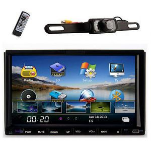 "7"" Car in Dash GPS DVD CD Player Touch Screen Radio Cam"