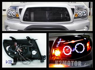 2005 2011 Toyota Tacoma Halo Projector Headlights Blk