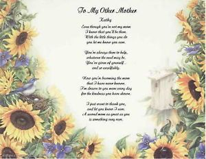 My Other Mother Second Mom Poem Gift 24 Designs