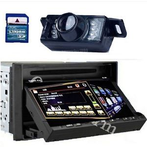 "HD 3D Pip 7""Touch Screen Double DIN in Dash Car DVD Player GPS Navigation Camera"