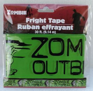 "Haunted House Zombie Outbreak 3""x 30' ft Long New Halloween Prop Fright Tape"