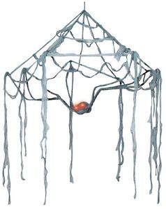 Large Spider Web Canopy Halloween Decoration Haunted House Yard Outdoor Indoor
