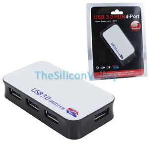 Super 5Gbps Speed 4 Ports USB 3 0 External Hub Adapter for Notebook  Laptop