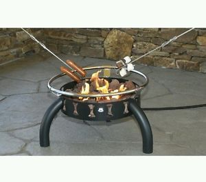 Picnic Patio Camping Yard Survival Outdoor Gas Portable Fire Pit Lava Rock