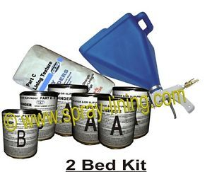 Spray on Truck Bed Liner Kit 2 Beds 125MILS Free Gun