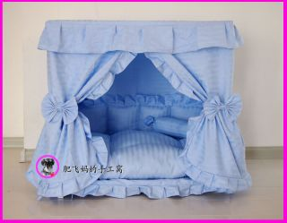 Gorgeous Handmade Princess Pet Dog Cat Bed House 1 Candy Pillow