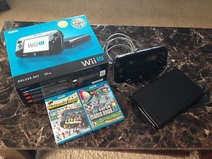 Nintendo Wii U Deluxe Set 32 GB Black Console New Super Mario Bros Nintendo Land