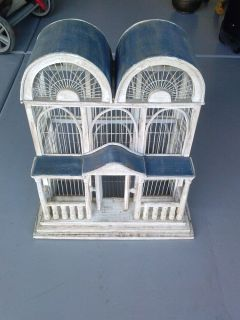 Vintage Style Wood Bird Cage Unique House Shaped Birdcage All Wood Cage Amazing