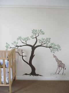 Large Giraffe Stencil Jungle Tree Stencil Nursery Decor Reusable Stencils