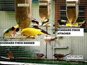 Bird Feeder New Seed Hanging Finch Canary Budgie Parrot Wild Cage Premium Clear