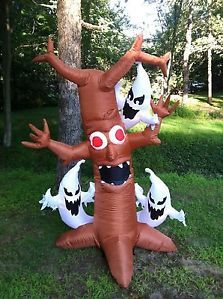 7ft Lighted Scary Tree Halloween Airblown Inflatable Outdoor Halloween Decor