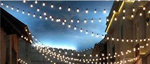 25 Clear G40 Globe RV Indoor Outdoor Wedding Gazebo Party String Lights 24'