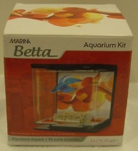 Marina Betta Aquarium 1 2 Gallon Tank Wall Mountable New in Box
