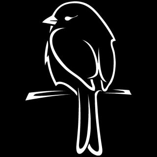 Canary Bird on Perch Decal Decals for Car Window Laptop Sticker Z AO 1753