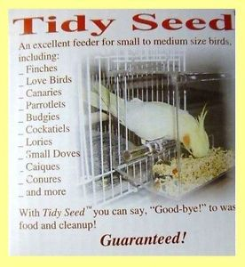 Tidy Seed No Mess Bird Feeder Lovebirds Parakeet Canary Cockatiel Parrot Cages