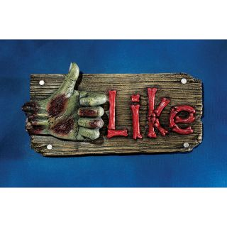 Social Media Walker Book Like Sign Dead Hand Thumbs Up Halloween Displays Props
