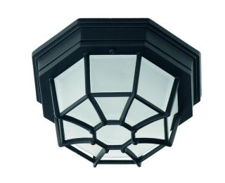 Savoy House 7065 Black Functional 1 Light Outdoor Ceiling Fixture from The Exter
