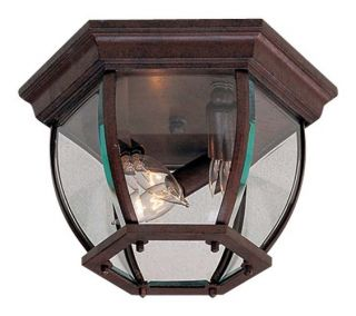 The Great Outdoors Go 71174 Antique Bronze Tuscan 3 Light Outdoor Ceiling Fixtur