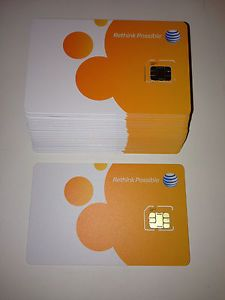 At T Micro Sim Card New 3G 4G LTE Unused SKU 72290 Prepaid Postpaid Original