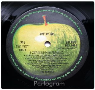 The Beatles Abbey Road Let It Be 2 x India 1st Press Apple LPS