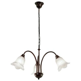 Modern Brown White Glass 3 Way Ceiling Pendant Down Light Fitting Chandelier