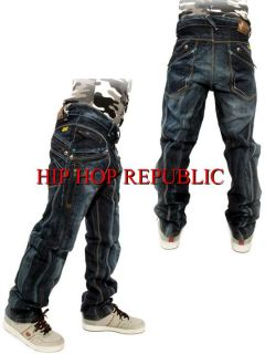 "Peviani ""Bar One"" Mens Jeans Time Is Hip Hop G Money Urban Star Wear"