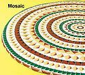 Mosaic Star Round Oval Vinyl Fitted Dining Tablecloth Patio Picnic Cover Table