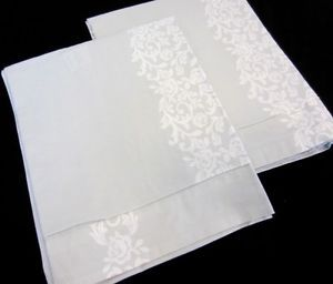 Pair Vintag Simply Shabby Chic Pearl Gray White Cotton King Pillow Cases Shams