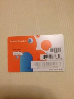 New at T Prepaid Postpaid 3G 4G Micro ATT Sim Card Unactivated