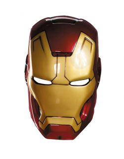 Marvel Adult Iron Man Mark 42 Red Gold Vacuform Mask