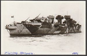 WW2 German Warship Anti Aircraft Cruiser Flak Kreuzer ARCONA in Camouflage