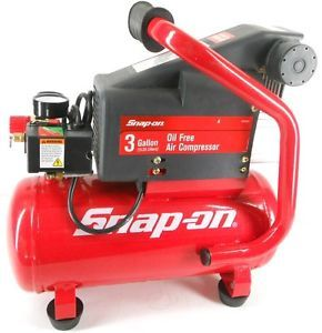 Snap on Tools Oil Less 3 Gallon Portable Air Compressor Tank with Electric Motor