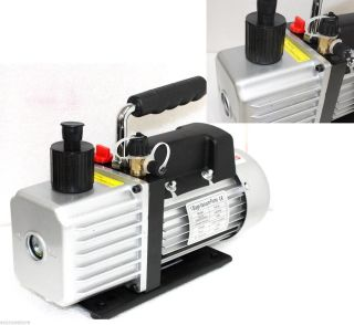 4 5CFM 1 3HP Rotary Vane Vacuum Pump w Oil Single Stage Gas HVAC AC R134a R410A