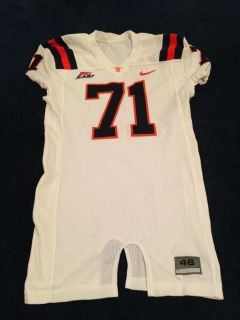 Syracuse University Football Game Worn Used Jersey Number 71 Size 46 2007