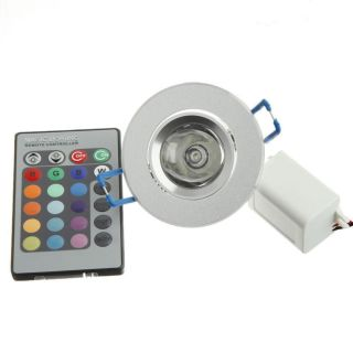 3W 85 265V RGB Dimmable LED Recessed Ceiling Flood Light Lamp Downlight Remote