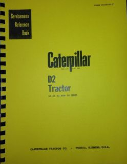 Cat Caterpillar D2 Service Manual Book Dozer 5U 4U New