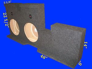 "Toyota Tundra Double Cab 2007 Up 12"" Down Fire Grey Subwoofer Sub Enclosure Box"