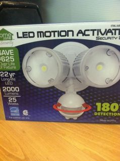 New Home Zone Security LED Motion Activated Security Light 2000 Lumens 25 Watts