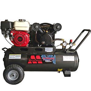 New 5 5 HP Honda Engine Portable Air Compressor 20 Gallon Tank Dual Outlets