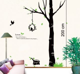 2 M High Tall Tree Wall Art Wall Sticker Decal Decor for Home Business