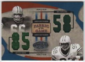 2005 Certified Fabric of The Game Jersey Number Ray Nitschke Reggie White 51 85