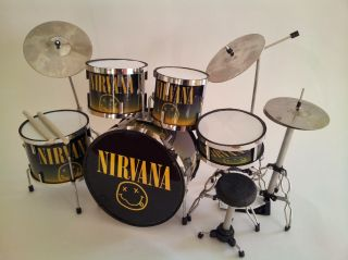 Miniature Drum Set Dave Grohl Nirvana Christmas Gift Free Drum Keyring