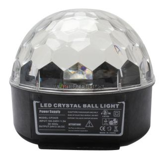 RGB Crystal Magic Ball Effect Light Disco DJ Stage Lighting Party LED