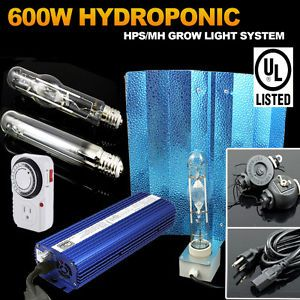 600 Watts HPS MH Digital Ballast Grow Light Kit 600W