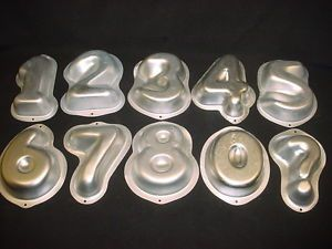 Wilton Number Set Cake Pan 1 2 3 4 5 6 7 8 0 Metal Mold Baking Tin Chocolate